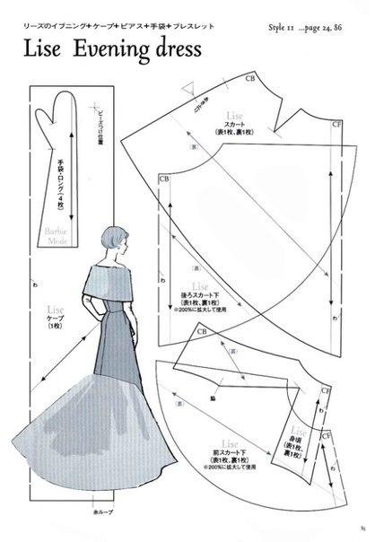 Вечерние платья барби с выкройками