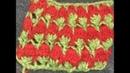Узор Клубнички тунисским вязанием крючком .Tunisian crochet