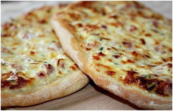 Фото: Первые блюда - Огненный пирог или Фламмкухен из Эльзасса. Flammkuchen ( фламмкухен) - огненный пирог