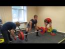 Становая тяга - добавление и снятие блинов со 145 кг до 195 кг и обратно