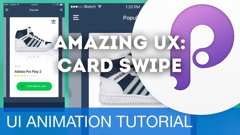Animate eCommerce Cards for a great UX • UIUX Animations with Principle Sketch (Tutorial)