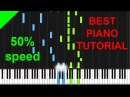 Sarah McLachlan - In The Arms Of an Angel 50 speed piano tutorial