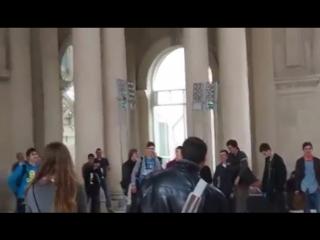 Распевка русского хора в Барселонском музее