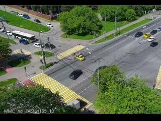Авария с полицейским на мотоцикле