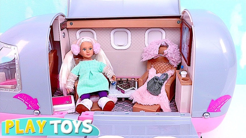 Play with Our Generation Airplane and Lori Doll Vacation Trip! 🎀