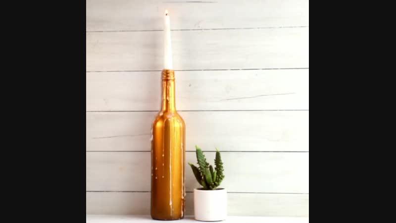 Несколько идей применения бутылки в декоре - Маленькие хитрости