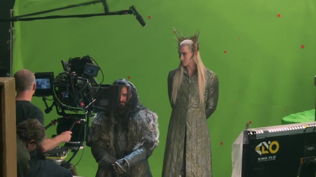 Thranduil questioning Thorin scene blooper (The Hobbit DOS behind the scenes: Lee Pace, Richard Armitage)