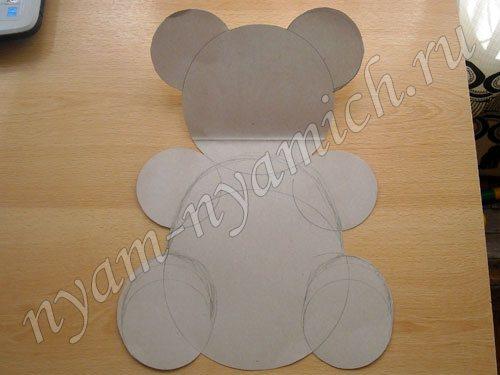 Как сделать форма мишки