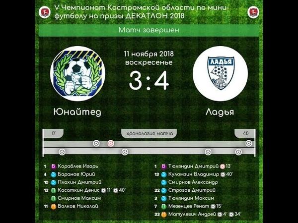Юнайтед - Ладья 34 V Чемпионат Костромской области по мини-футболу (11.11.18)