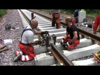 Термитная сварка рельс на железной дороге