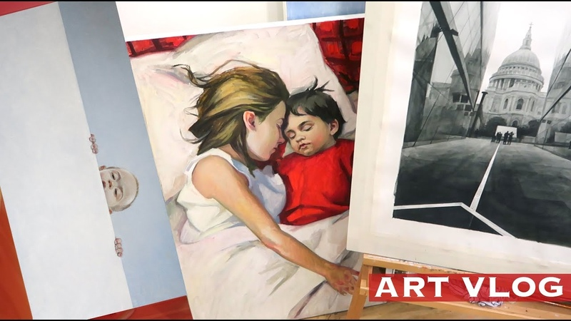 ART VLOG Как выбрать Раму Эскизы Мои новые Работы