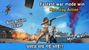 My fastest war mode win in pubg mobile Intense non stop Action pubg mobile Hindi Gameplay