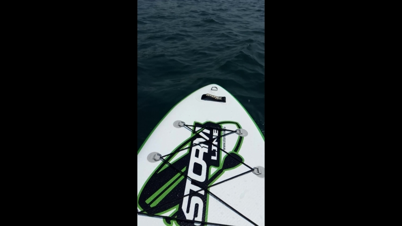 SUP SURFING я потом даже на ноги встала