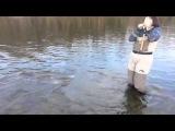 Женщина на рыбалке Ужас Ржака Смех Шок Мега Прикол
