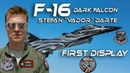 4K UHD F-16 Stefan Vador Darte The New F16 Belgian Air Force Solo Display Pilot 2018