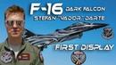 4K UHD F-16 Stefan Vador Darte The New F16 Belgian Air Force Solo Display Pilot 2018