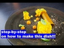 Cooking Hacks 5   Chocolate mousse served with lemon, carrot, walnut and basil