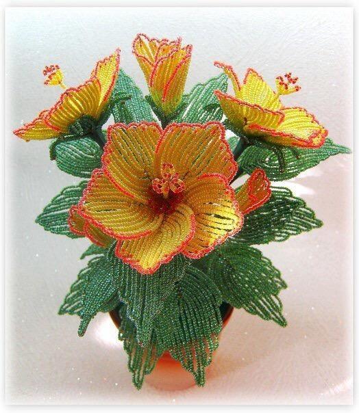 Бисероплетение цветов мастер класс с пошаговым фото