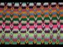 Разноцветный узор Косичка крючком Коврик узором Косичка Куда деть остатки пряжи