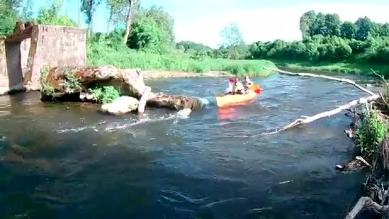 сплав на байдарка на реке анграпа 2017 В КАЛИНИНГРАДСКОЙ ОБ yaclip scscscrp