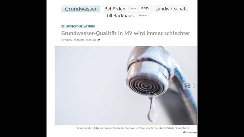 Vergiftung des Trinkwassers in Mecklenburg Vorpommern offiziell - live aus Wittenburg