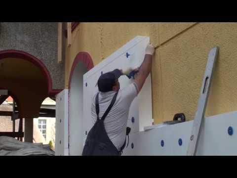 Как нужно работать с клей-пеной на фасаде дома, приклейка пенопласта на неровное основание