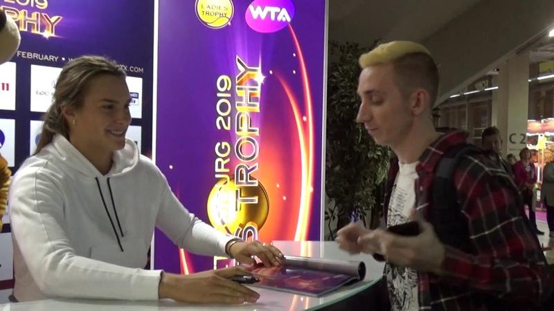 St. Petersburg Ladies Trophy 2019. Aryna Sabalenka Autograph Session