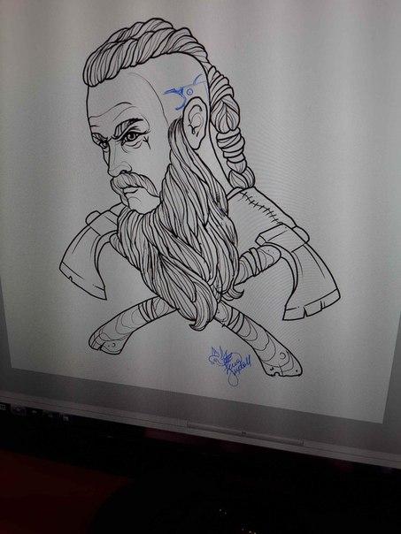 эскизы тату викингов: