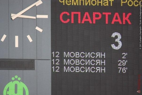 Юра Мовсисян в дебютной игре за Спартак сделал хет-трик