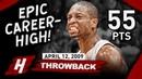 Dwyane Wade EPIC Career-HIGH Full Highlights vs Knicks 2009.04.12 - 55 Points, MVP Mode!