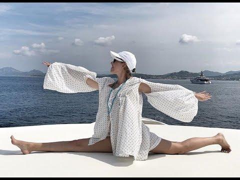 Ксения Собчак танцует эротичный танец на яхте