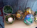 Easter egg jewelry box, sea stained glass OOAK ring box, dragon egg