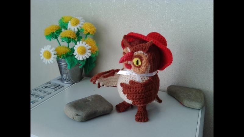 Сова из Винни Пух, ч.3. Owl from the Winnie the Pooh, р.3. Amigurumi. Crochet. Амигуруми.