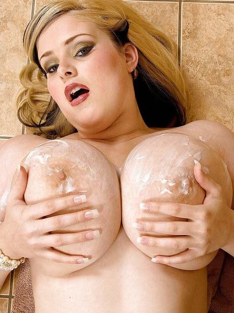 Brawnybears com big tits in sheer