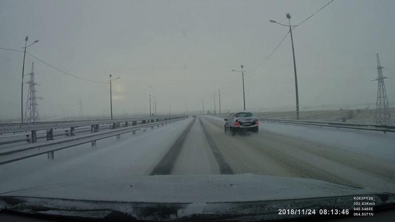 Архангельск, поворот на эстакаду трассы М8, после Северодвинского моста.