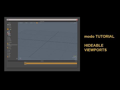 Modo Tutorial Hideable Viewports with viewport.hide.