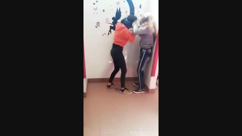 Cuntpunch cunt knee - Pelea en la escuela lu vs agrandada - YouTube