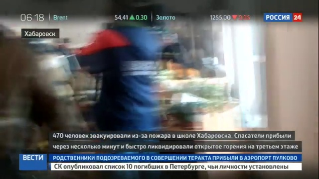 Новости на Россия 24 ЧП в Хабаровске экстренным службам пришлось эвакуировать сотни человек из за пожара в школе