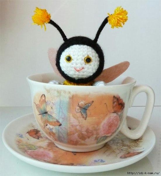 вязаная пчелка (6 фото) - картинка