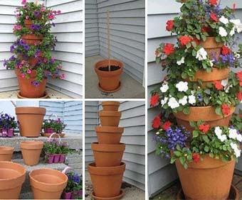 Подвесные кашпо для цветов для сада своими руками