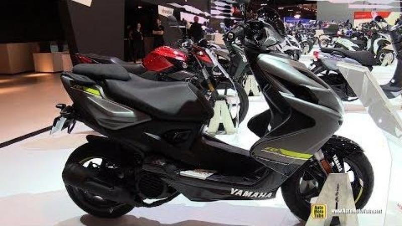 2018 Yamaha Aerox R 50 Scooter - Walkaround - 2017 EICMA Motorcycle Exhibition