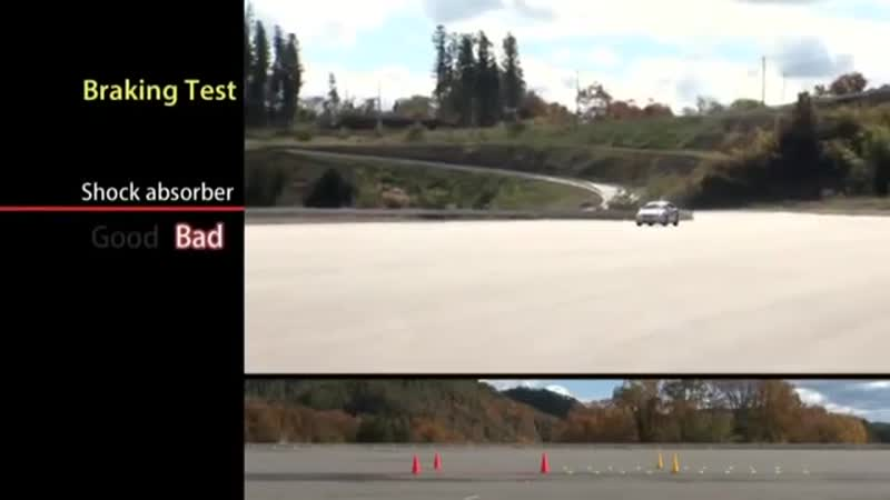 Shock absorber braking test