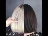 Из шатенки в блондинку за один раз! Работа нашего стилиста Кристины Ермолаевой.