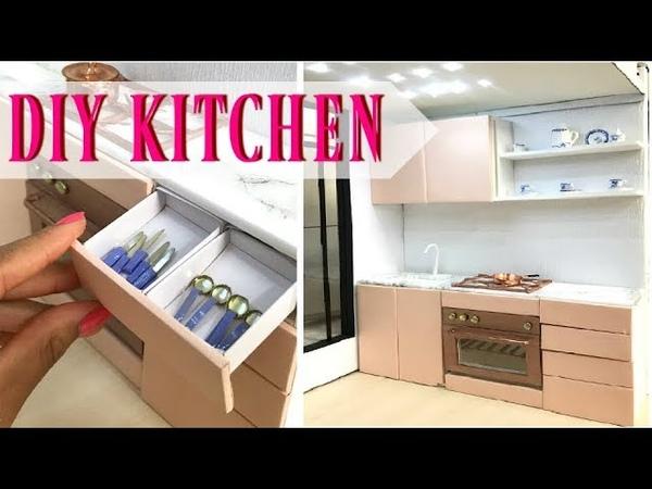 DIY miniature kitchen doll craft