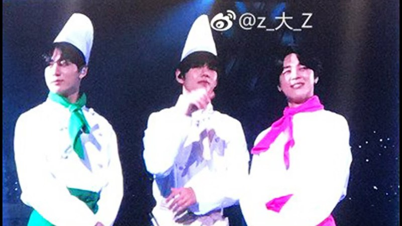 BTS Food Hyung Line Chefs Maknae Line Costumes  Japan Fanmeeting Vol 4 Day 2
