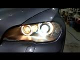 BMW Х5 Е 70 Полное восстановление фар. Замена штатных линз на линзы Hella 3r с сохранением адаптивного света!