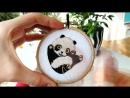 Видеокурс по вышивке Панда