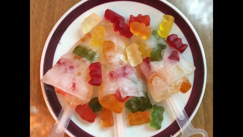 Мороженое из СПРАЙТА и желейных мишек ХАРИБО | Ice cream with SPRITE and gummy bears HARIBO