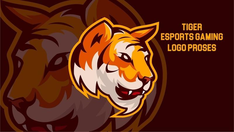 Belajar Membuat eSports Gaming Logo Tiger di Adobe Illustrator Indonesia
