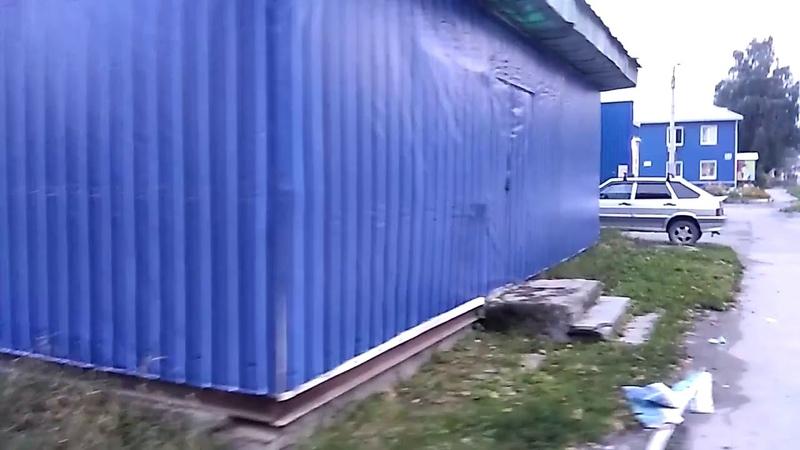 Полная обтяжка баннером хоз блока